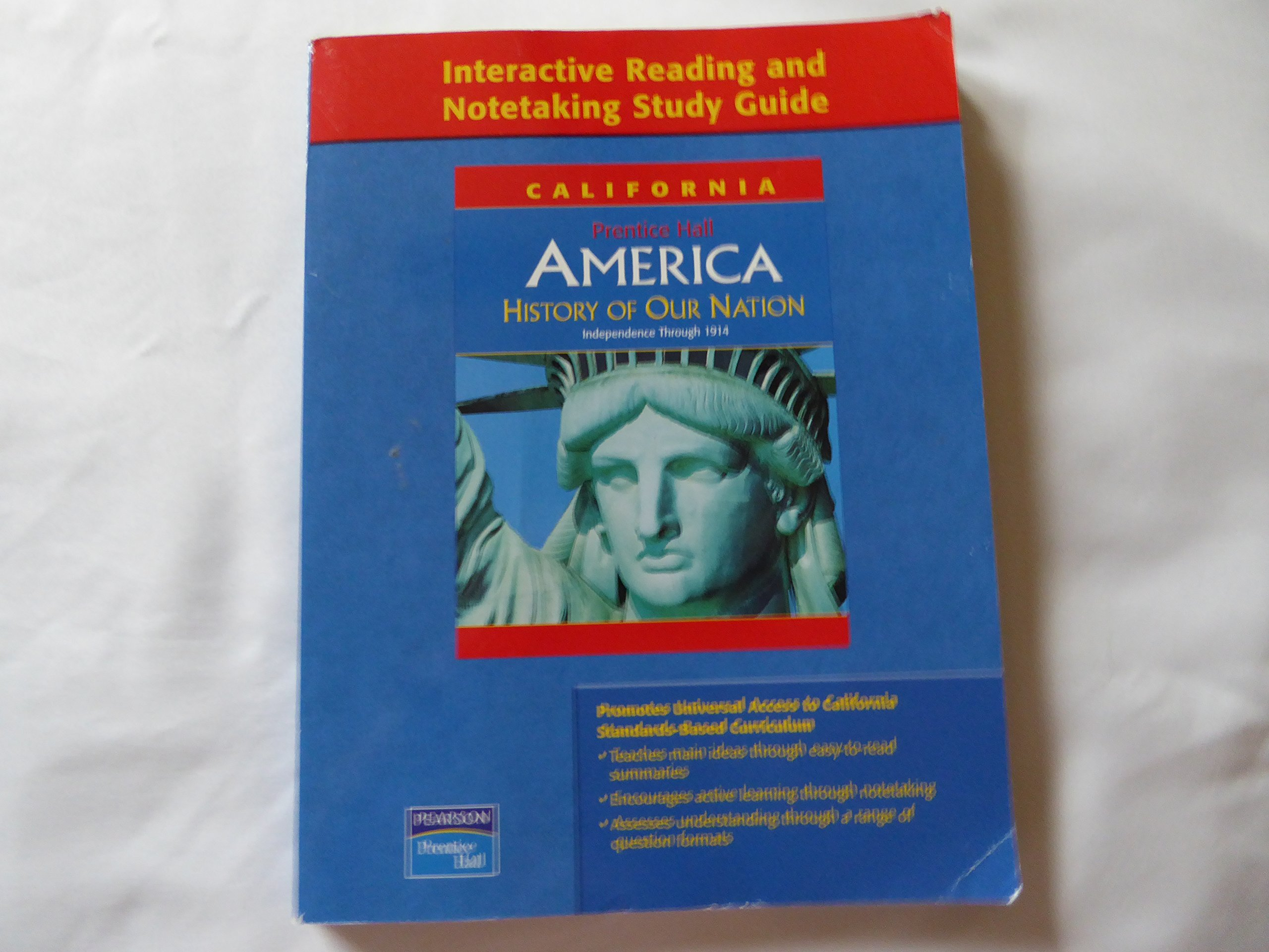 Prentice Hall America History of Our Nation (Interactive Reading and  Notetaking Study Guide) Califor: Pearson Prentice Hall: 9780131199972:  Amazon.com: ...