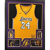$749 » Kobe Bryant Los Angeles Lakers Autograph Signed Custom Framed Jersey Official Swingman Retirement Limited Edition Suede Matted 4…
