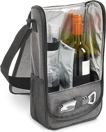 VonShef Estuche para vinos en Gris para 2 Personas: Amazon.es: Hogar