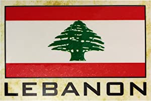 Flag Fridge Refrigerator Magnets - Asia and Africa (Country: Lebanon)
