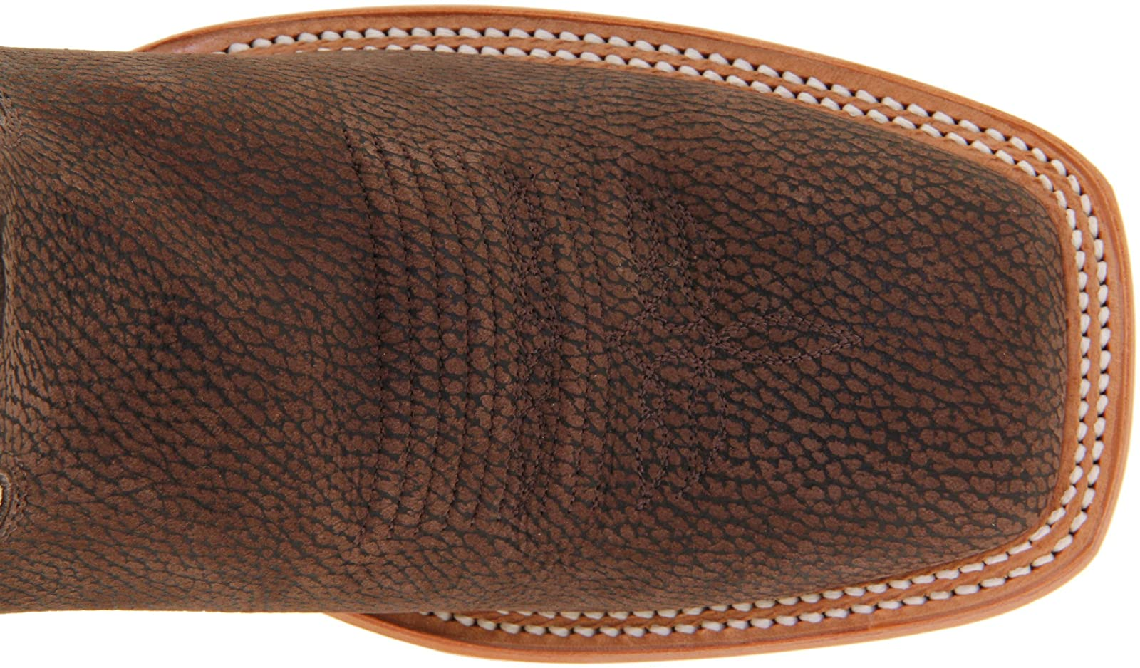 Justin Boots Men's U.S.A. Chocolate Bisonte/White Classic - 7