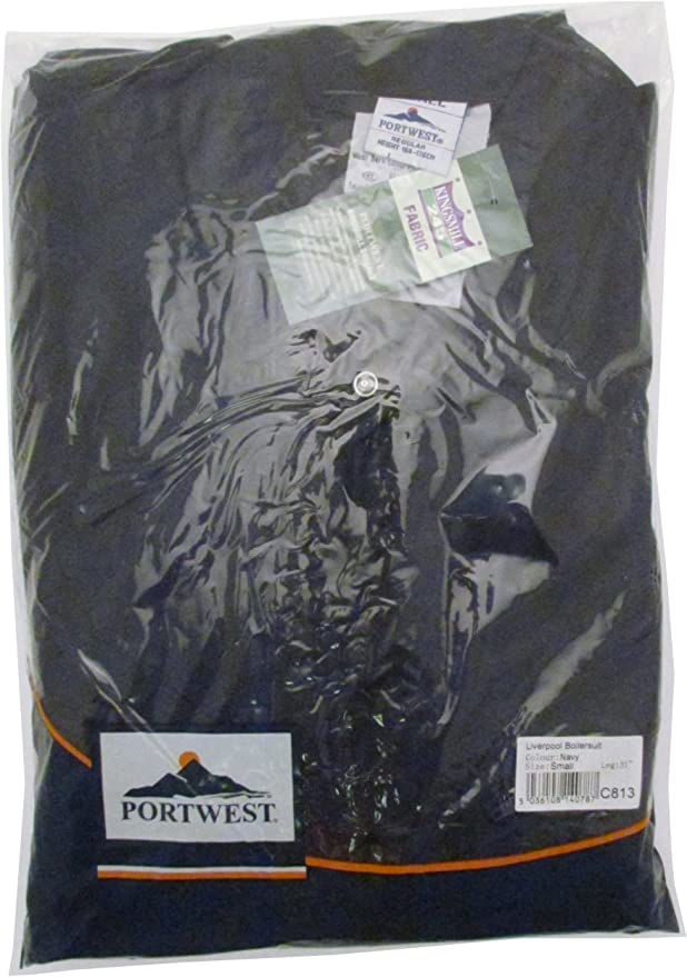 Tall XX-Large Black Portwest C813BKTXXL Liverpool Zip Coverall