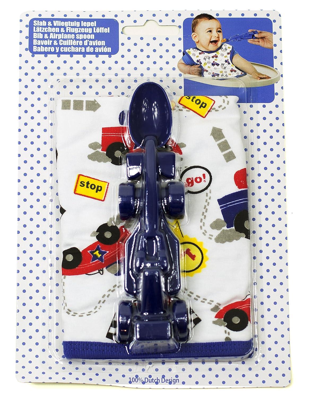 Blau Baby L/ätzchen M/ädchen Rennwagen L/öffel in Rot oder Blau // BPA Frei // Jungen o