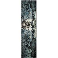 Overstock.com deals on Safavieh Glacier Abstract Watercolor Blue Area Rug Runner