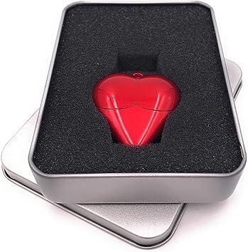 Onwomania Corazon en Rojo Amor Dia de San Valentin Memoria USB Stick en Caja de Regalo de ALU 16 GB USB 2.0: Amazon.es: Electrónica