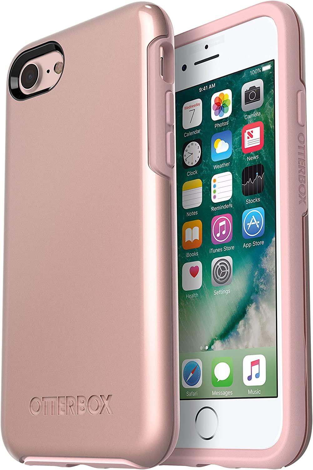 Amazon Com Otterbox Symmetry Series Case For Iphone Se 2nd Gen 2020 And Iphone 8 7 Not Plus Retail Packaging Rose Gold Pale Pink Rose Gold Graphic