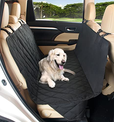 Pet Dog Car Seat Cover Quilted Protector For Back Seats Engineered Large Dogs