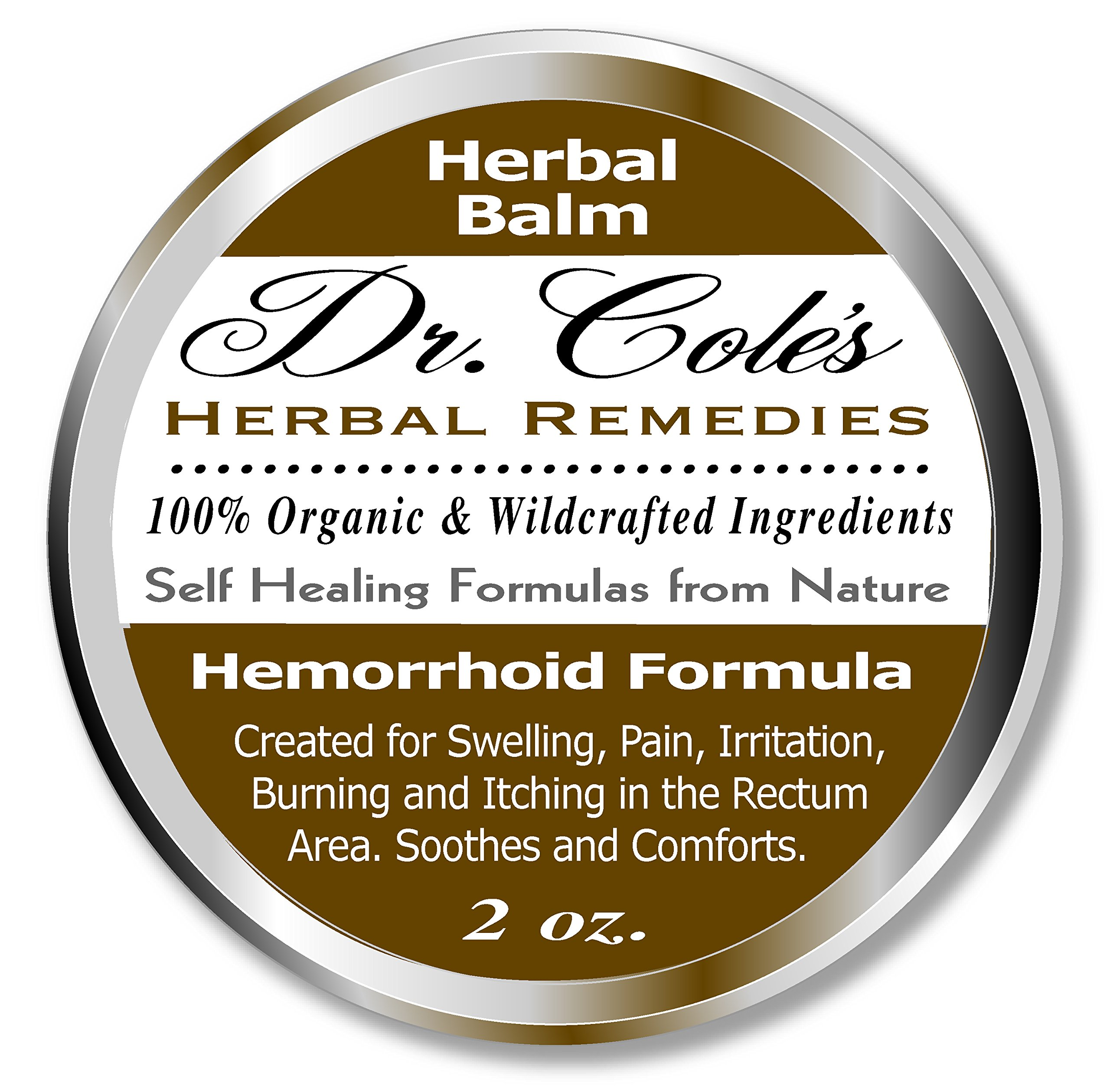 Dr. Cole's Hemorrhoid Treatment. Organic Herbal Ointment for Hemorrhoid Relief. Natural Remedy for all types of Internal and External, Hemorrhoids. Soothes Itching, Swelling & Pain. Safe for all ages. by Dr. Cole's Herbal Remedies
