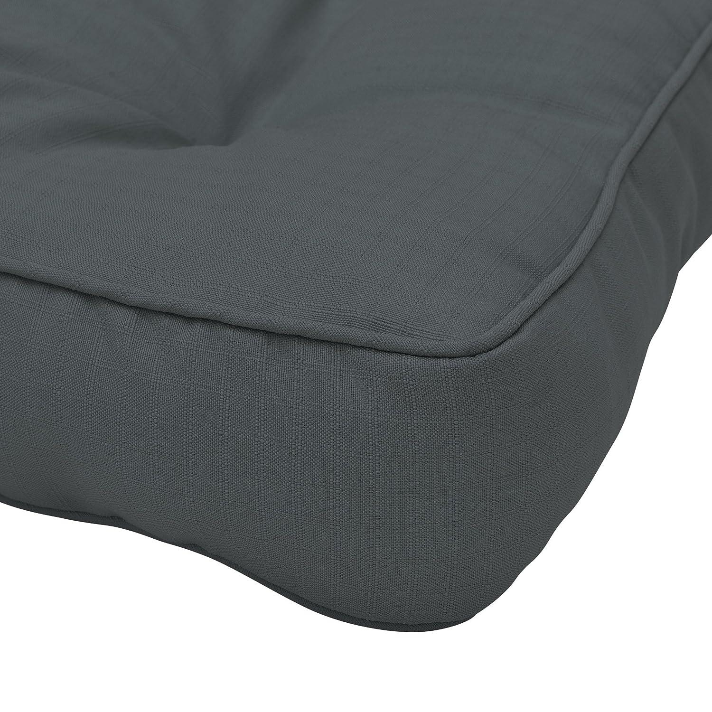 Beautissu Cojines para Muebles de jardín XLuna Lounge sillas de Mimbre de Exterior Asiento Grueso Acolchado Aprox. 40x40x10 cm Gris Grafito
