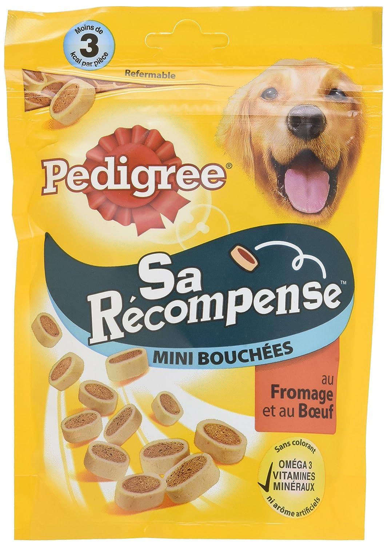 Pedigree Sa Récompense Mini Bouchées Bœuf/Fromage pour Chien 6 Sachets de 140 g