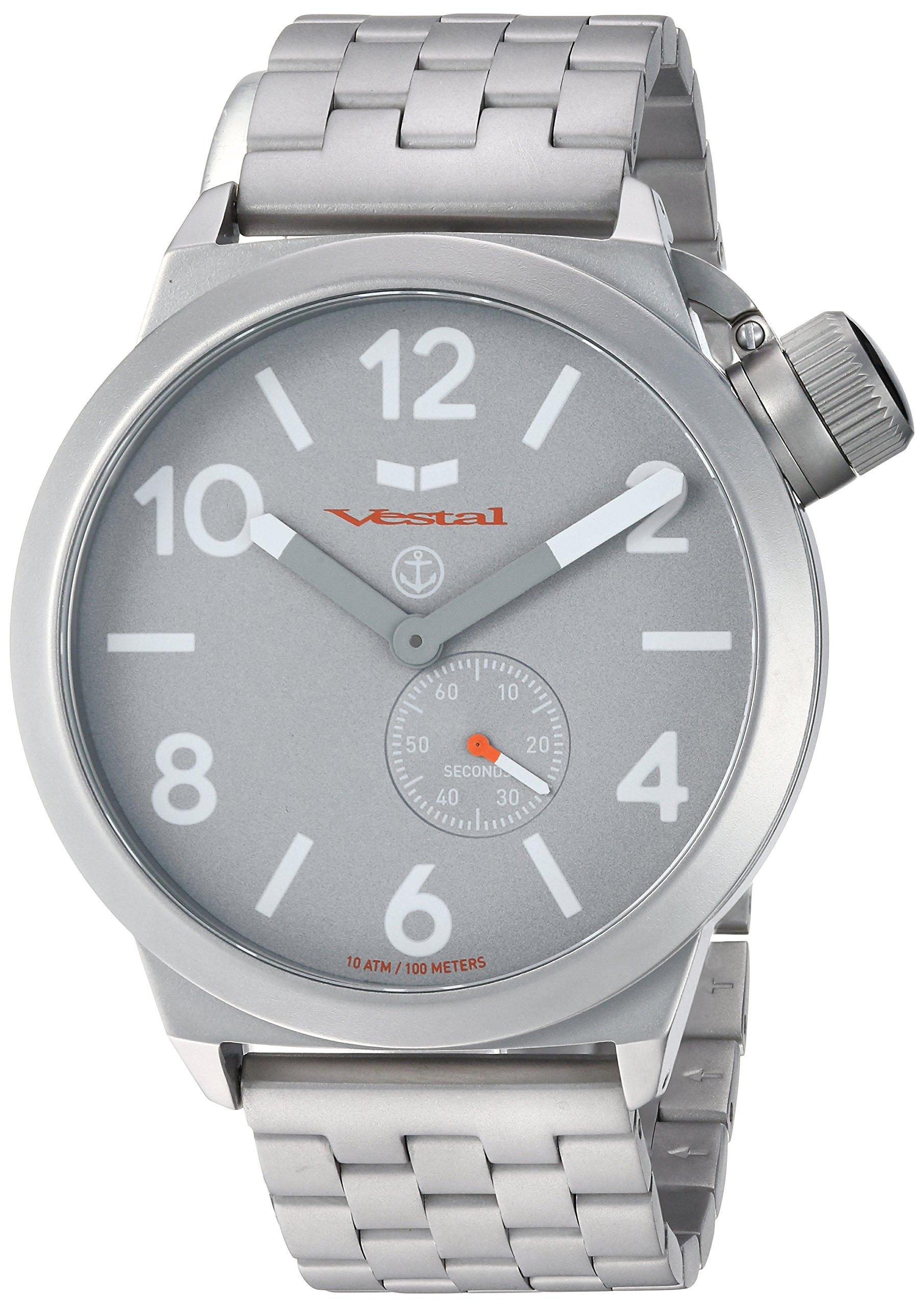 Vestal Unisex CNT453M09.5SVM Canteen Metal Analog Display Analog Quartz Silver Watch