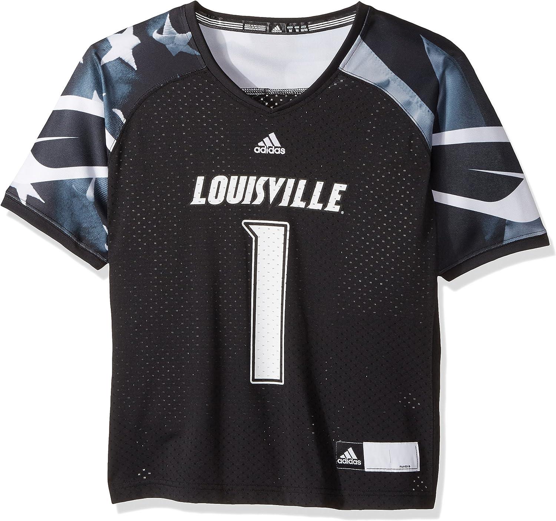 adidas Adult Women NCAA Replica Football Jersey, Large, Alternate Black, Louisville Cardinals