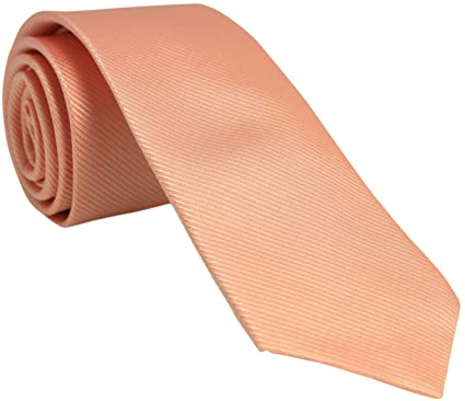 6250bbdbbb1d Image not available for. Colour: Peach Silk Tie