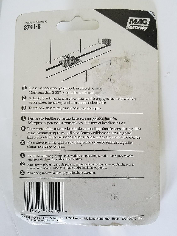Mag 8741-B Keyed Sash Lock - General Hardware And Construction Equipment - Amazon.com