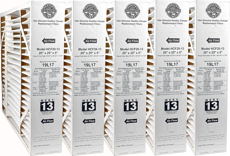 Lennox 19L17-20 x 25 x 5 Healthy Climate HCF20-13 Air Filter 2-Pack MERV 13