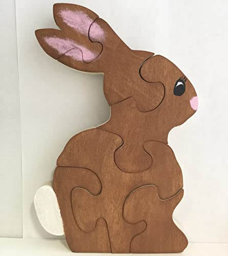 Easter Bunny Rabbit Eco-Friendly Wooden Puzzle