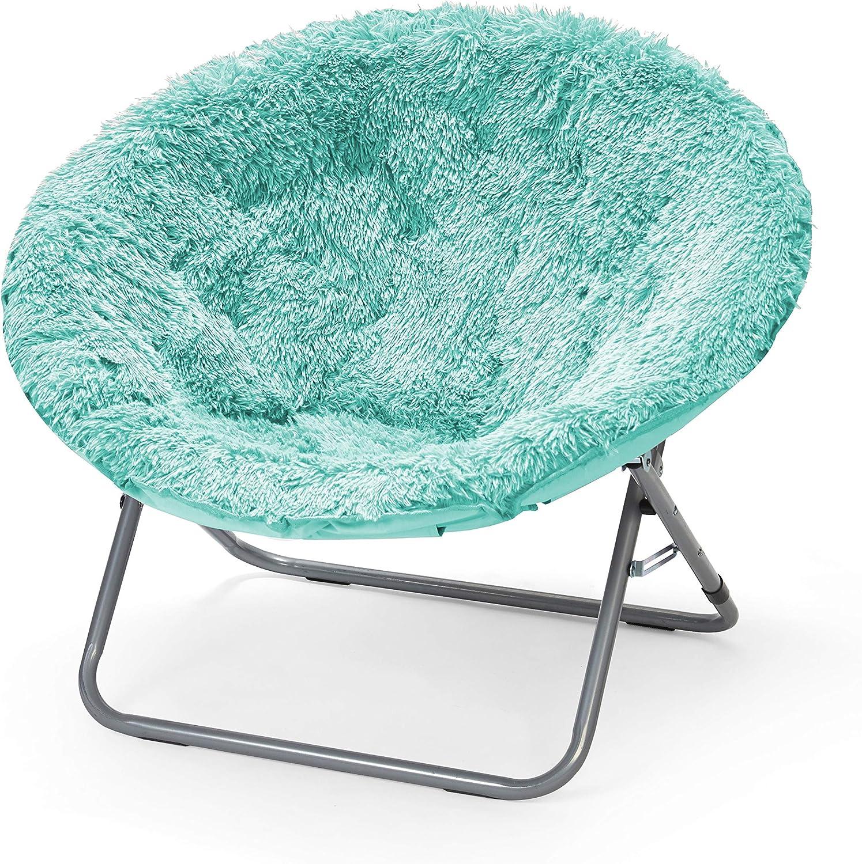 Urban Shop Oversized Mongolian Saucer Chair, Aqua