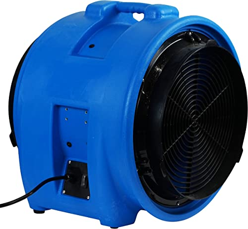 MOUNTO 1HP 5000CFM 16 Axial Blower Exhaust Fan Confined Space Blower Blue
