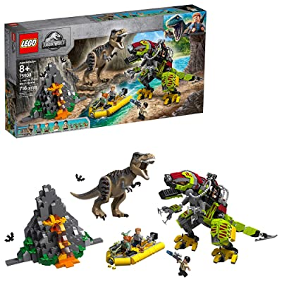 LEGO Jurassic World T. rex vs Dino Mech Battle 75938 (716 Pieces): Toys & Games