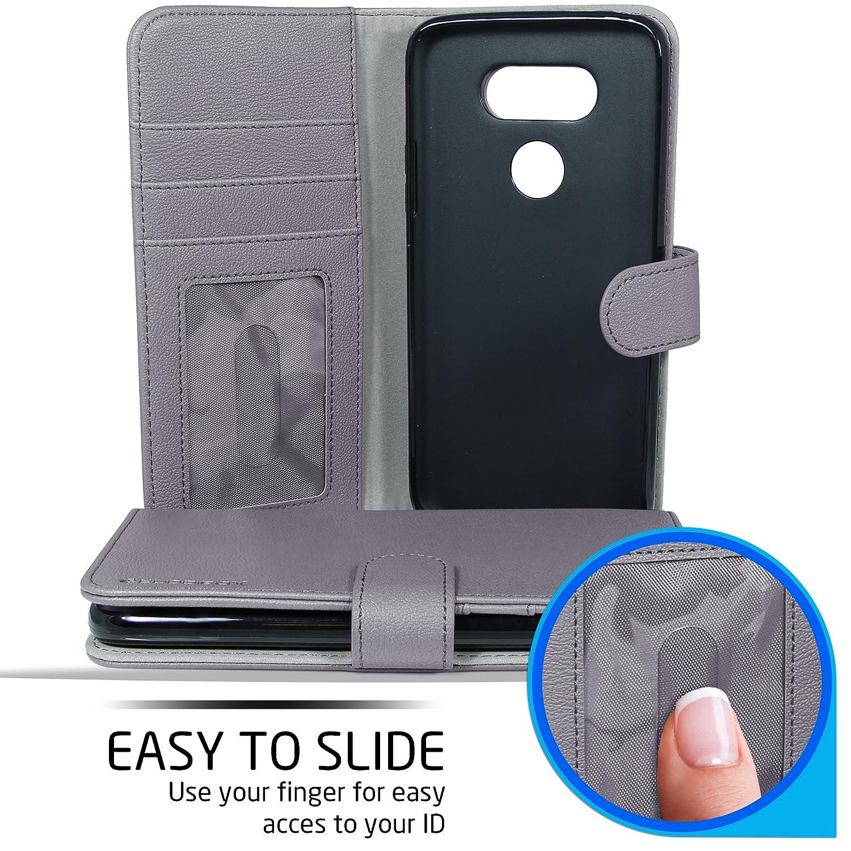 Amazon.com: LG G5 Monedero casos, buddibox, gris: Cell ...