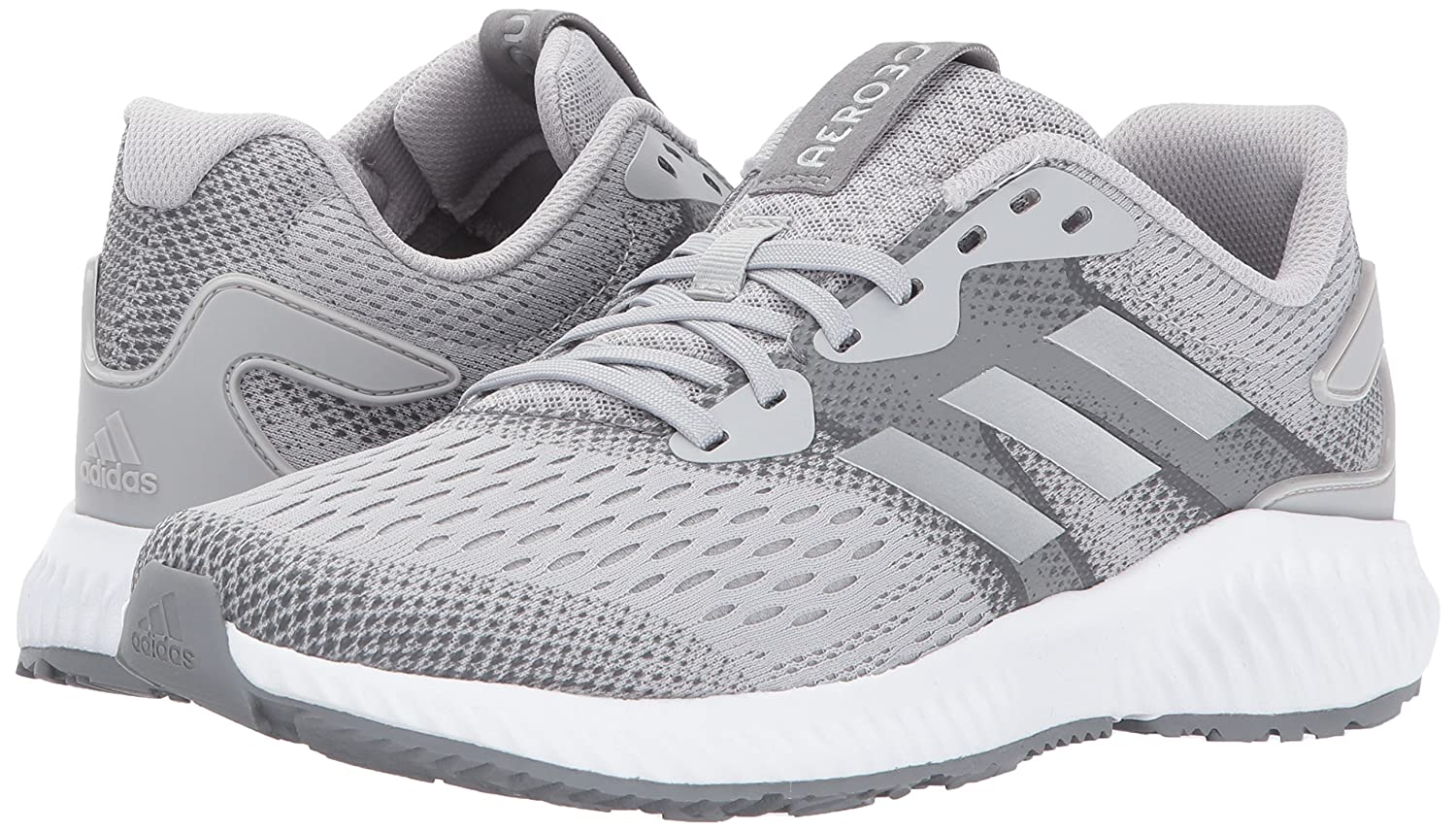 adidas Women's Aerobounce W B(M) Running Shoe B01MSQHLWL 6.5 B(M) W US|Grey Two/Metallic Silver/Grey Five 28606a