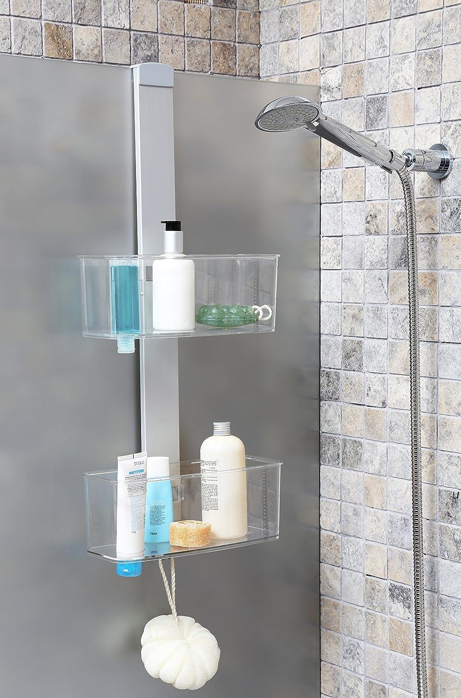 Duschregal Duschablage aus hochwertigem Aluminium mit zwei Körben Zum Hängen oder zur Wandmontage Topp
