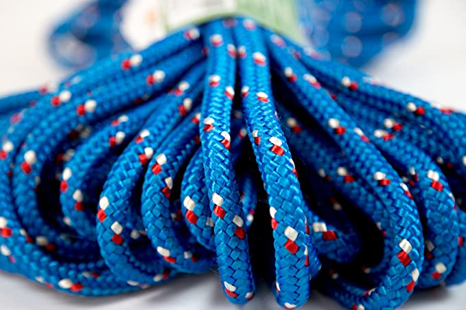 Amazon.com : Itacorda Eco-Friendly - Double Braided Rope - 3/8 inches - 100 feet - Blue - Outdoor activities : Sports & Outdoors