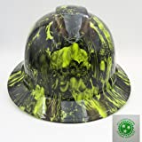 Wet Works Imaging Customized Pyramex Full Brim Green Way Of The Fist Hard Hat With Ratcheting Suspension