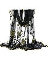 Sanwood Trendy Women Gauze Embroidered Peacock Veil Church Mantilla Scarf Wrap