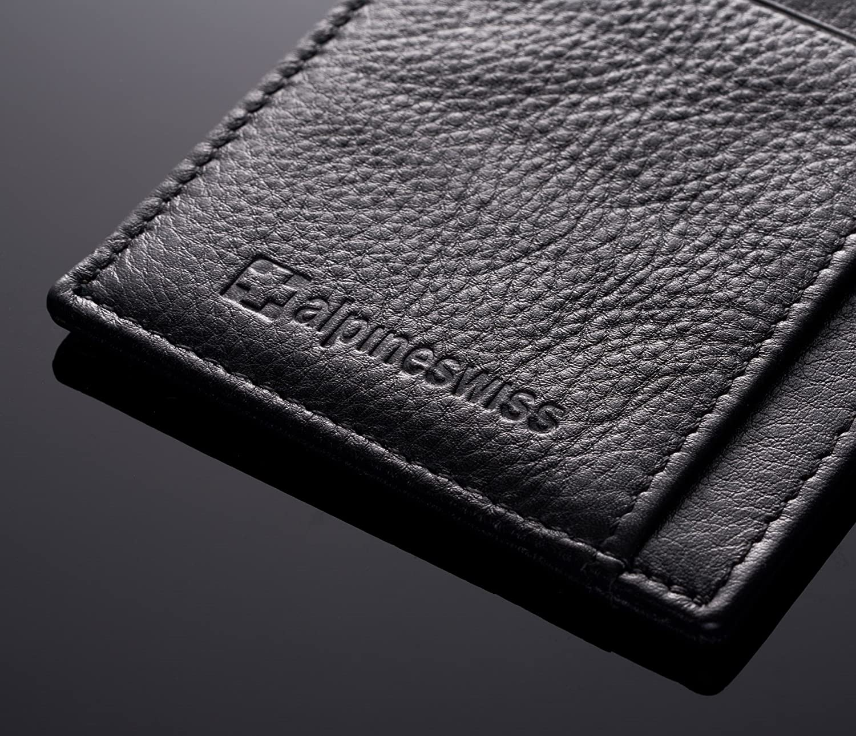 Alpine Swiss RFID Mens Thin Minimalist ID Card Case Slim Front Pocket Wallets 5 Top Variations By Alpine Swiss