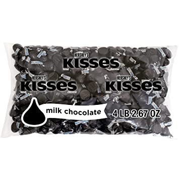 1b2b37409 Amazon.com : HERSHEY'S KISSES Chocolate Candy, New Years Black Foils ...