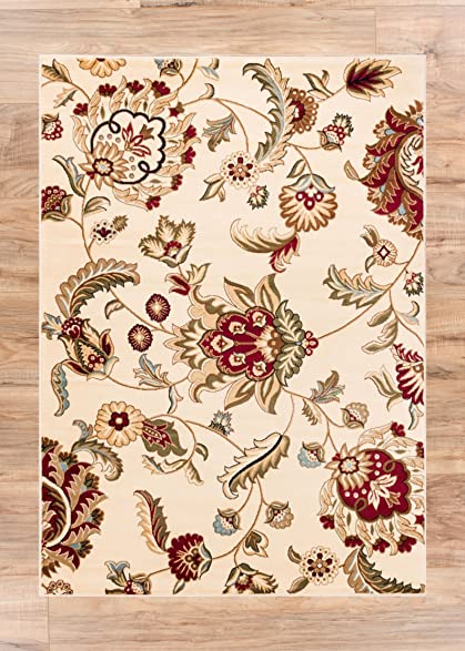 Grand Garden Ivory Floral Oriental Modern Formal Area Rug 9x13 93quot X