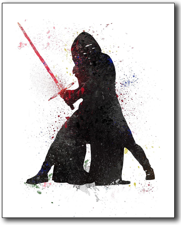 Star Wars Set 6 Star Wars Watercolor Star Wars Print Darth Vader Poster BB8 Porg Chewbacca Princess Leia Yoda Boba Fett C3PO Poster Nursery