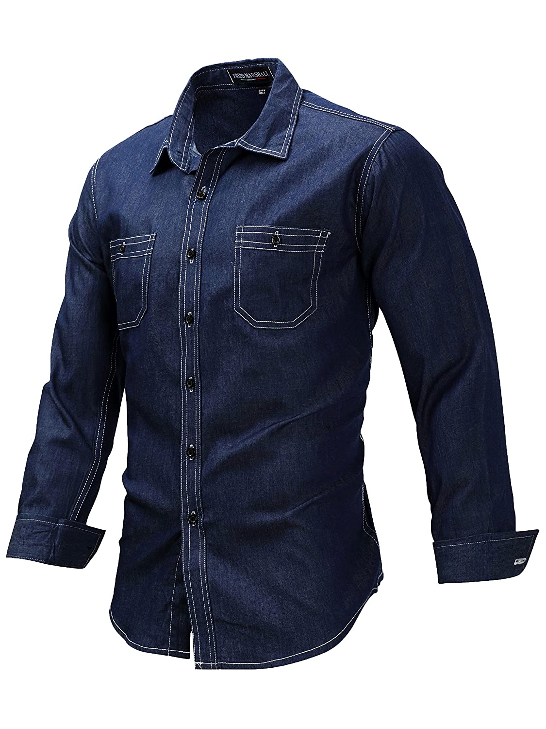 Neleus SHIRT メンズ B07584SSZ2 Large+ /Fit Chest:43.5-46"