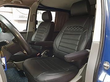 Sitzbezüge Schonbezüge SET QW VW T5 Caravelle Kunstleder schwarz