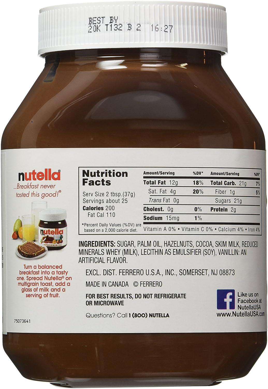 Nutella Hazelnut Spread, 33 5 oz each, 2 Count