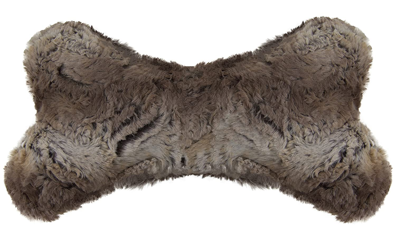 BESSIE AND BARNIE Deluxe Extra Plush Faux Fur Simba Pet Dog Luxury Fashion Bone Toy Pillow