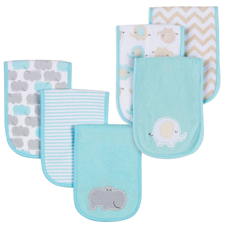 Gerber Baby 6 Pack Burp Cloths, Hippo/Elephant, One Size 86864616ANEUOSZ