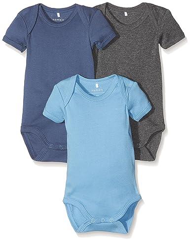 NAME IT Baby-Jungen Body, 3er Pack
