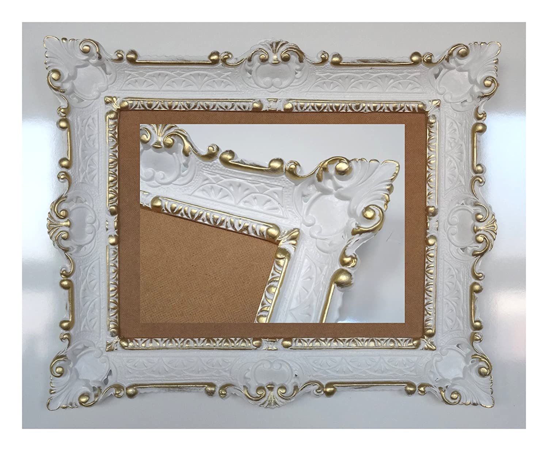 ANTIK BAROCK BILDERRAHMEN in der Farbe Weiß / Gold Dualcolor 56x46cm ...