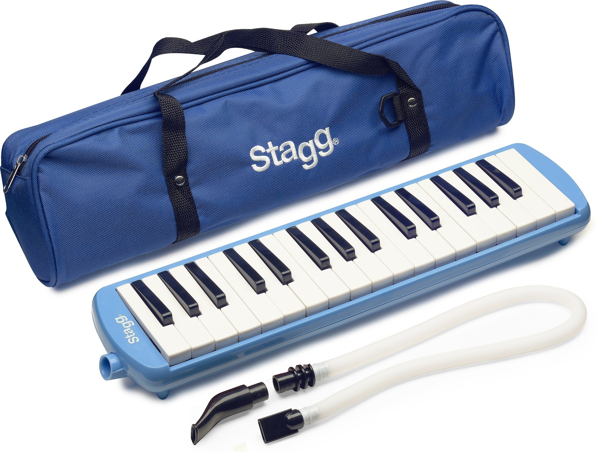 Stagg MELOSTA32 BL 32-Key Melodica with Nylon Gig Bag Included, Blue