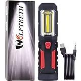 ワークライト 作業灯 父の日プレゼント 懐中電灯 USB充電式 ライト COB LED 強力 LED X8 先端LED付 マグネット スタンド付き 広角仕様 災害救助用品 WOLFTEETH 7262