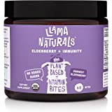Llama Naturals Organic Elderberry Gummies for Kids, No Added Sugar, Sweeteners or Synthetics; Vitamin C, Zinc, Beta Glucan Im