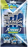 Wilkinson - Xtreme 3 Ultimate Plus - Rasoirs jetables masculins - Pack de 8
