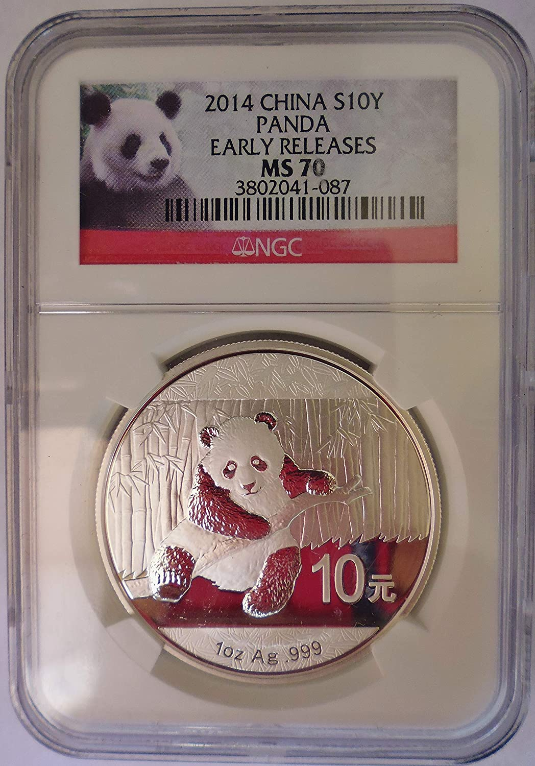 NGC MS70 China 2010 1oz Silver Panda Coin