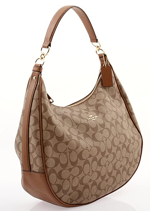 f09caa77ba HARLEY HOBO IN SIGNATURE (COACH F38300) (F38300 IMBDX)  Amazon.in  Shoes    Handbags