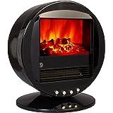 Chemin'Arte 065N Cheminée électrique fire bowl noire PVC Noir
