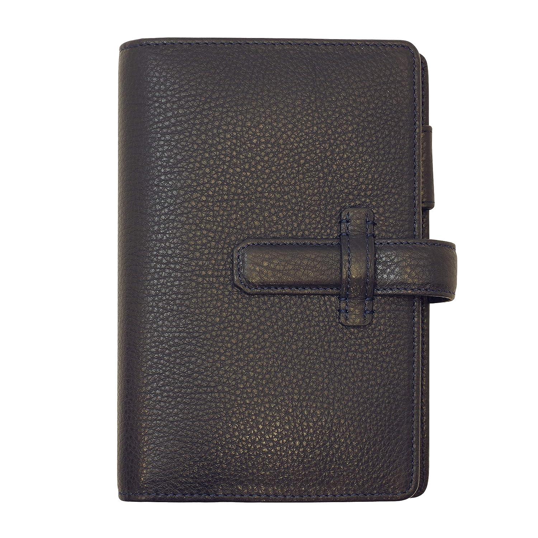 数量限定 ポケットサイズ ナチュラルグレインバインダー リング径15mm【ネイビー】 64424   B07L63X5ZD