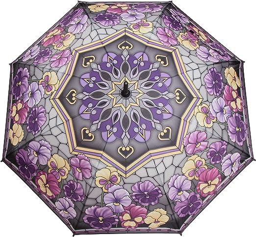 Regenschirm Blumen Stiefmütterchen Style Tiffany