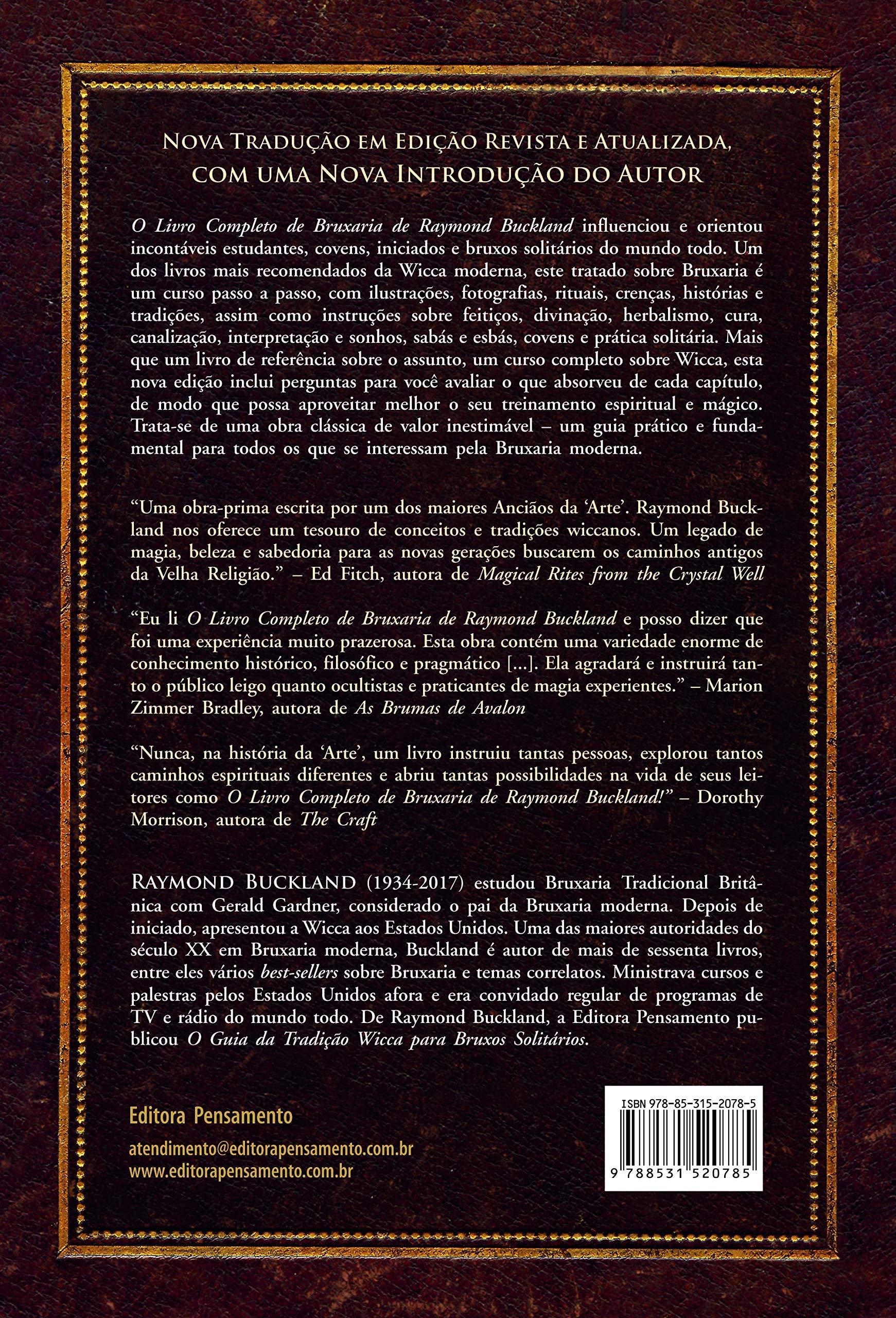 Livro 'O Livro Completo de Bruxaria de Raymon Buckland' por Raymond Buckland